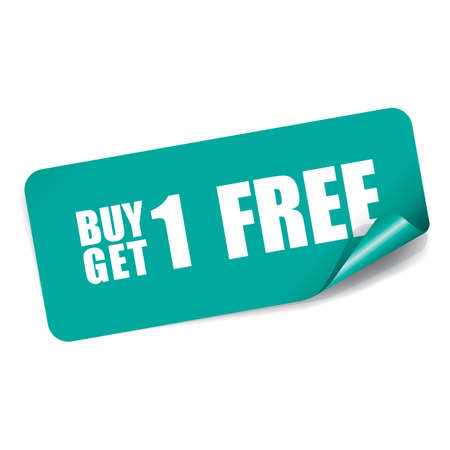 Buy 1 Get 1 Free on Rectangle Sticker.