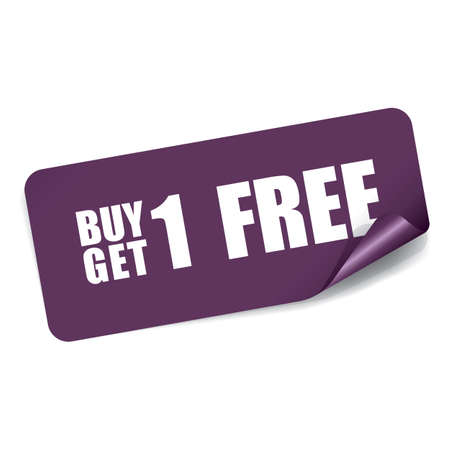 1: Buy 1 Get 1 Free on Rectangle Sticker.