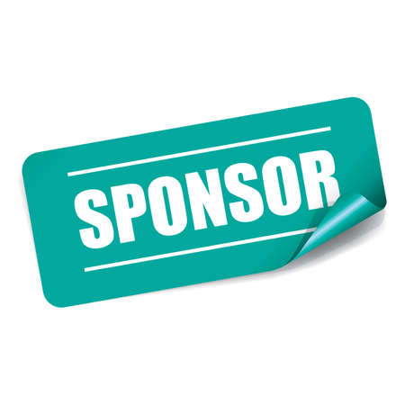 sponsor: Sponsor Rectangle Sticker and Tag.