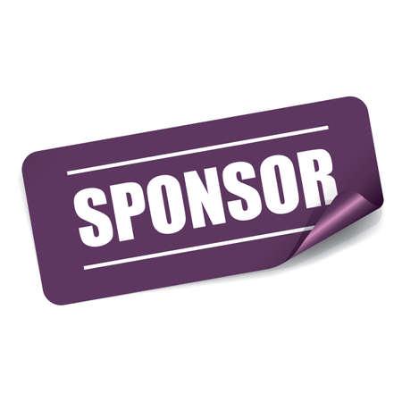 sponsorship: Sponsor Rectangle Sticker and Tag.