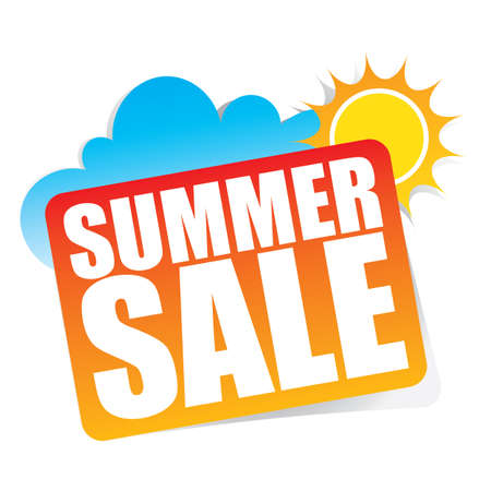 Summer Sale sticker and Tag.