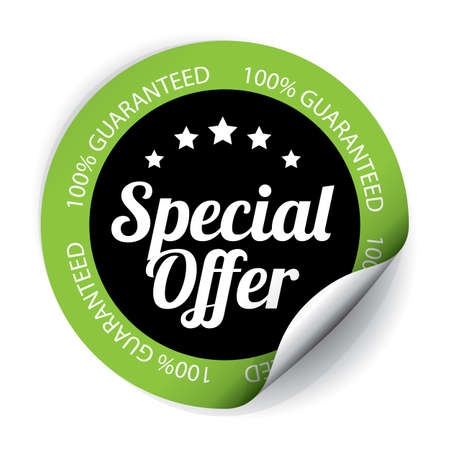 Special Offer Sticker and Tag. Stock Photo