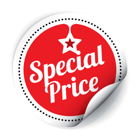 Special Price Sticker and Tag. Stock Photo
