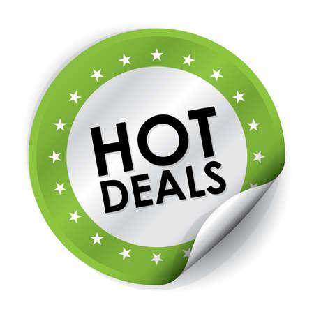 hot deals: Hot Deals Sticker and Tag - Green