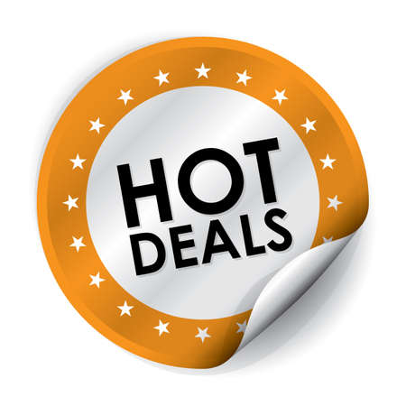 Hot Deals Sticker and Tag - Orange