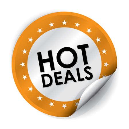hot deals: Hot Deals Sticker and Tag - Orange
