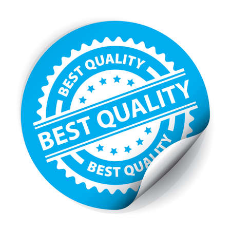 best quality: Best Quality Sticker and Tag. Stock Photo