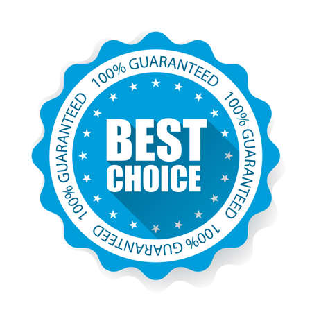 Best Choice on Star Sticker and Tag. Stock Photo