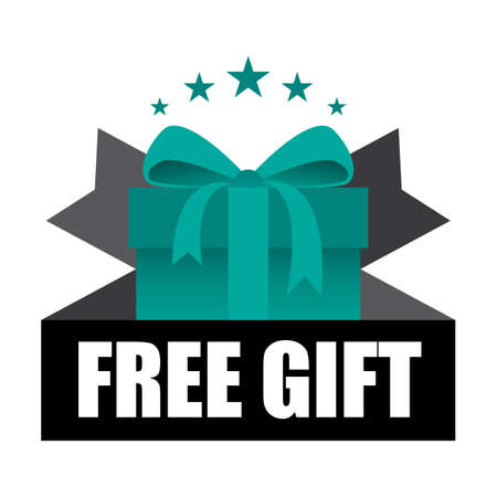 Free Gift Sign and Tag. Stock Photo