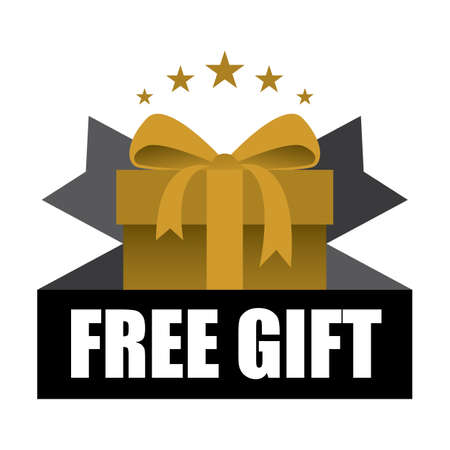 free gift: Free Gift Sign and Tag. Stock Photo