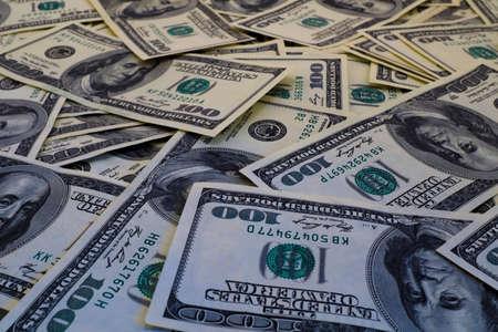 filtered: Mount of hundred dollar banknotes background texture filtered