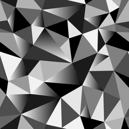 rumpled: Abstract gradient geometric rumpled triangular seamless low poly style vector illustration graphic background. Vector Illustration