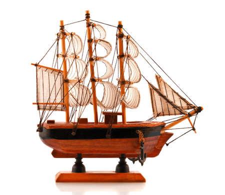 frigate: Redwood carved model of hand made frigate