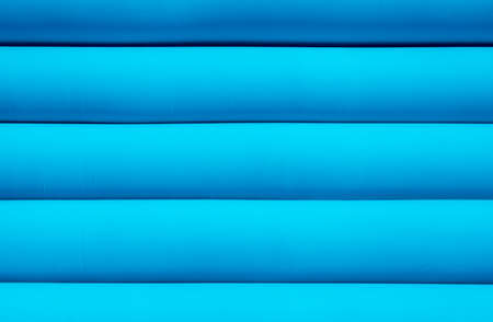 pressurized: Texture of blue inflated water mattress