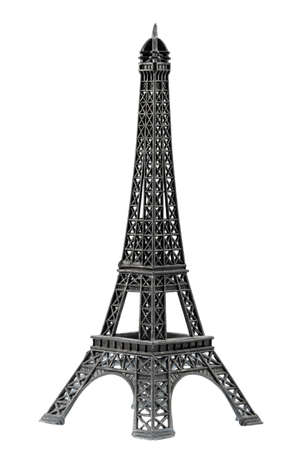 key chain: Key chain souvenir from metal Eiffel Tower Paris isolated on white