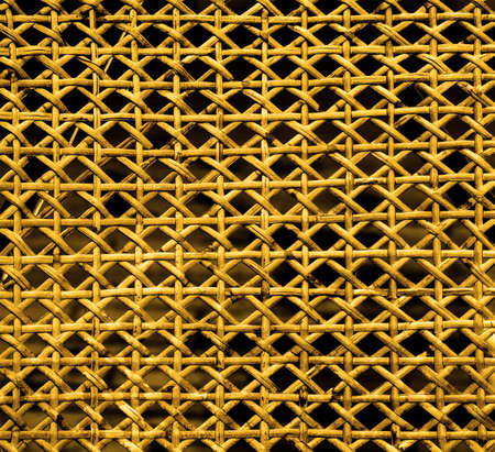 lacquered: Texture of yellow lacquered wicker wood Stock Photo