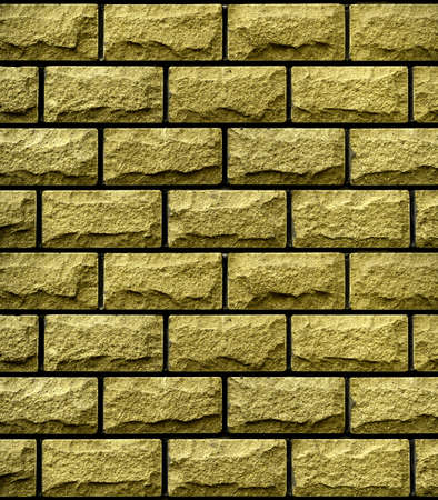 Texture Of Golden Brick Wall High Contrasted With Vignetting.. Stock ...