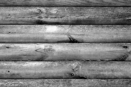 hammered: Log house beech wood texture with hammered a nails black and white