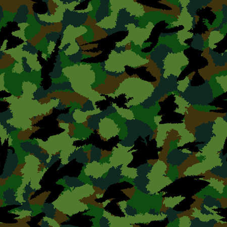 latent: Forest dark mixed war camouflage seamless pattern. Can be used for wallpaper, pattern fills, web page background, surface textures Stock Photo