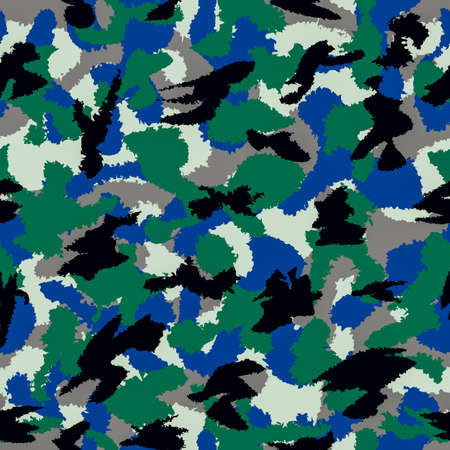 latent: Forest mixed war camouflage seamless pattern. Can be used for wallpaper, pattern fills, web page background, surface textures