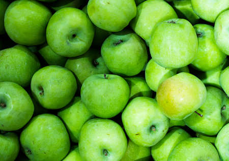 green apples: Green apples background Stock Photo