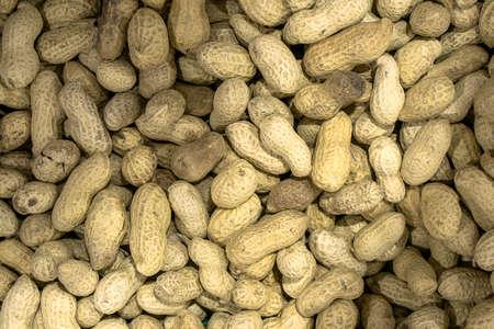 filtered: Fondo cacahuetes asados ??macro tibia filtrada Foto de archivo
