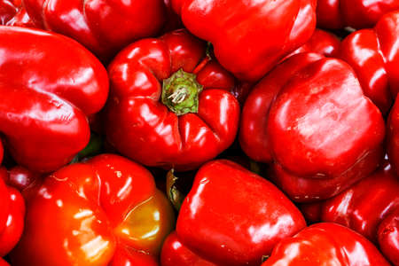 contrast: Red bell pepper high contrast background