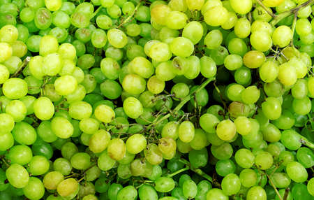 contrast: Green sultana grapes high contrast background filtered