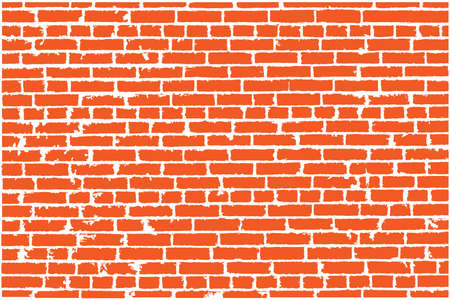 clay brick: Vector texture of red old brick wall. Vector illustration