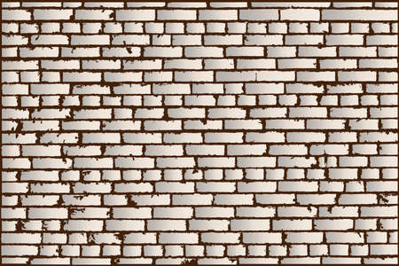 old brick wall: Vector texture of ivory old brick wall. Vector illustration Illustration