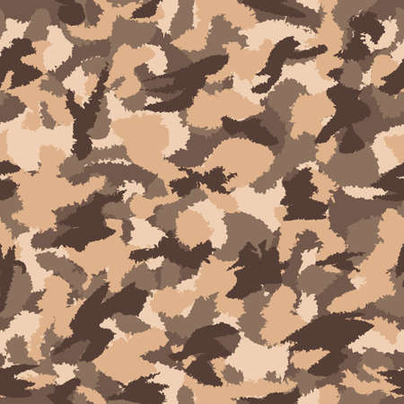 War Desert Brown Safari Camouflage Seamless Vector Pattern Can Be Used For Wallpaper