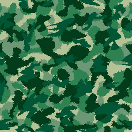 background textures: War green forest camouflage seamless vector pattern. Can be used for wallpaper, pattern fills, web page background, surface textures. Vector illustration