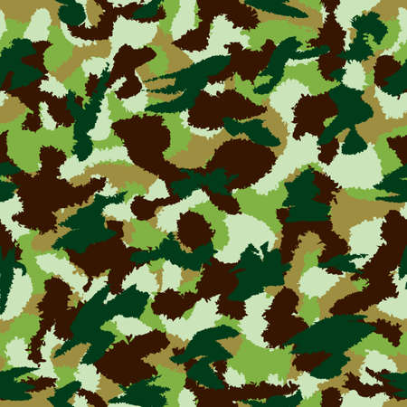 fills: War universal nature camouflage seamless vector pattern. Can be used for wallpaper, pattern fills, web page background, surface textures. Vector illustration