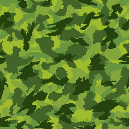 War green jungle camouflage seamless vector pattern. Can be used for wallpaper, pattern fills, web page background, surface textures. Vector illustration