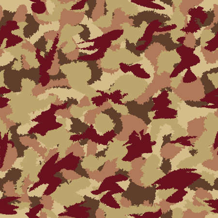 War universal savanna camouflage seamless vector pattern. Can be used for wallpaper, pattern fills, web page background, surface textures. Vector illustration