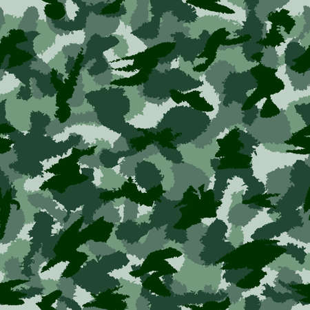 fills: War green forest camouflage seamless vector pattern. Can be used for wallpaper, pattern fills, web page background, surface textures. Vector illustration