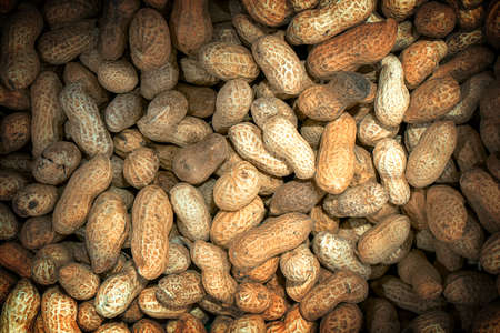 vignetting: Roasted peanuts macro high contrasted with vignetting effect background