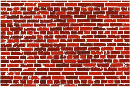 old brick wall: Vector texture of red realistic old brick wall. Vector illustration
