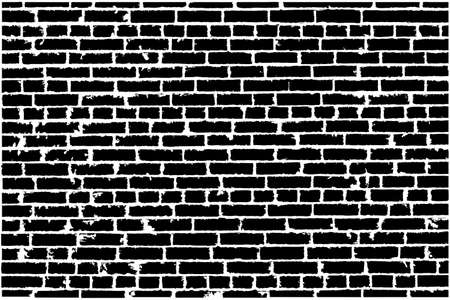 Vector texture of black old brick wall. Vector illustration