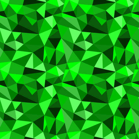 rumpled: Vector seamless green abstract geometric rumpled triangular graphic background. Digital vector illustration