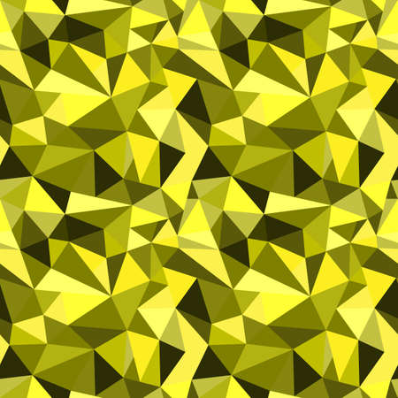 rumpled: Vector seamless yellow abstract geometric rumpled triangular graphic background. Digital vector illustration