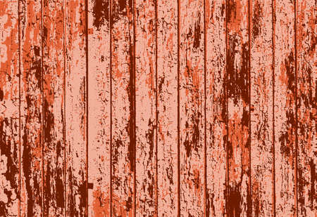 rusted: Vector texture of realistic orange rusted old painted wooden fence. Vector illustration Illustration