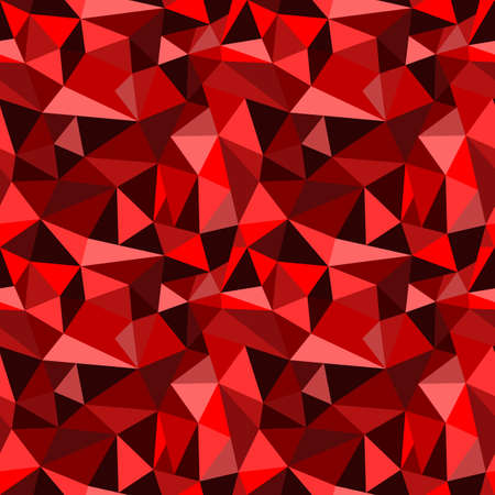 rumpled: Vector seamless red abstract geometric rumpled triangular graphic background. Digital vector illustration