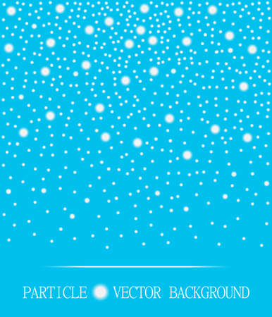 jewelry design: Abstract falling snow particles cyan background. Style background for presentation, cards, scientific and jewelry design. Vector illustration