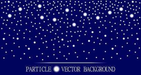 jewelry design: Abstract falling snow particles dark blue background. Style background for presentation, cards, scientific and jewelry design. Vector illustration Illustration