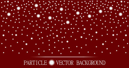 jewelry design: Abstract falling snow particles burgundy red background. Style background for presentation, cards, scientific and jewelry design. Vector illustration