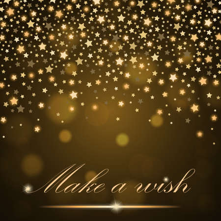 ambient: Vector abstract shining falling stars on golden ambient blurred background. Luxury design. Vector illustration