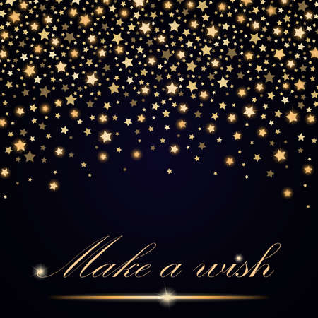 new years background: Vector abstract shining falling stars on blue ambient background. Luxury design. Vector illustration
