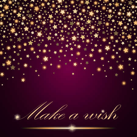 new years background: Vector abstract shining falling stars on pink ambient background. Luxury design. Vector illustration