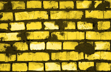 hollow walls: Fresh golden and black clay brickwork detailed texture background